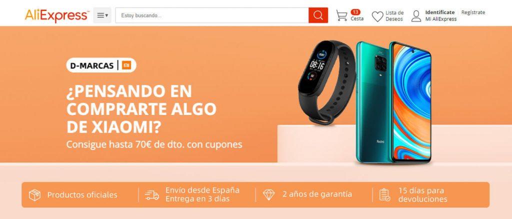 descuentos en productos de la marca Xiaomi