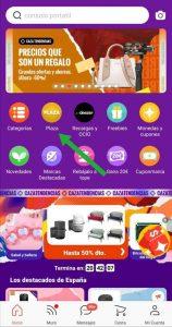 Pinchar en Plaza en la aplicación de AliExpress