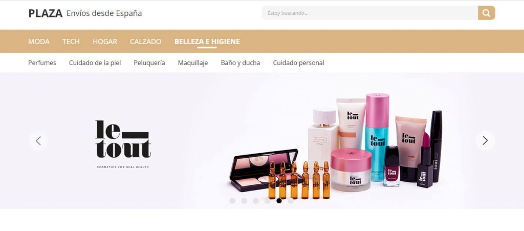 comprar en la sección de belleza e higiene de AliExpress Plaza