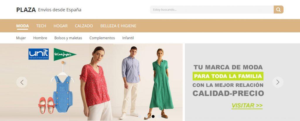 sección de moda AliExpress Plaza